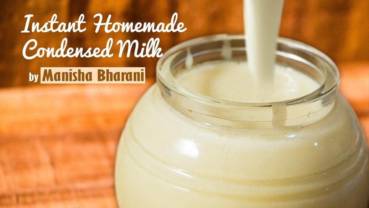 Instant Homemade Condensed Milk In 2 Minutes - Basic Recipe - Basic Recipe|Using Milk Powder ...