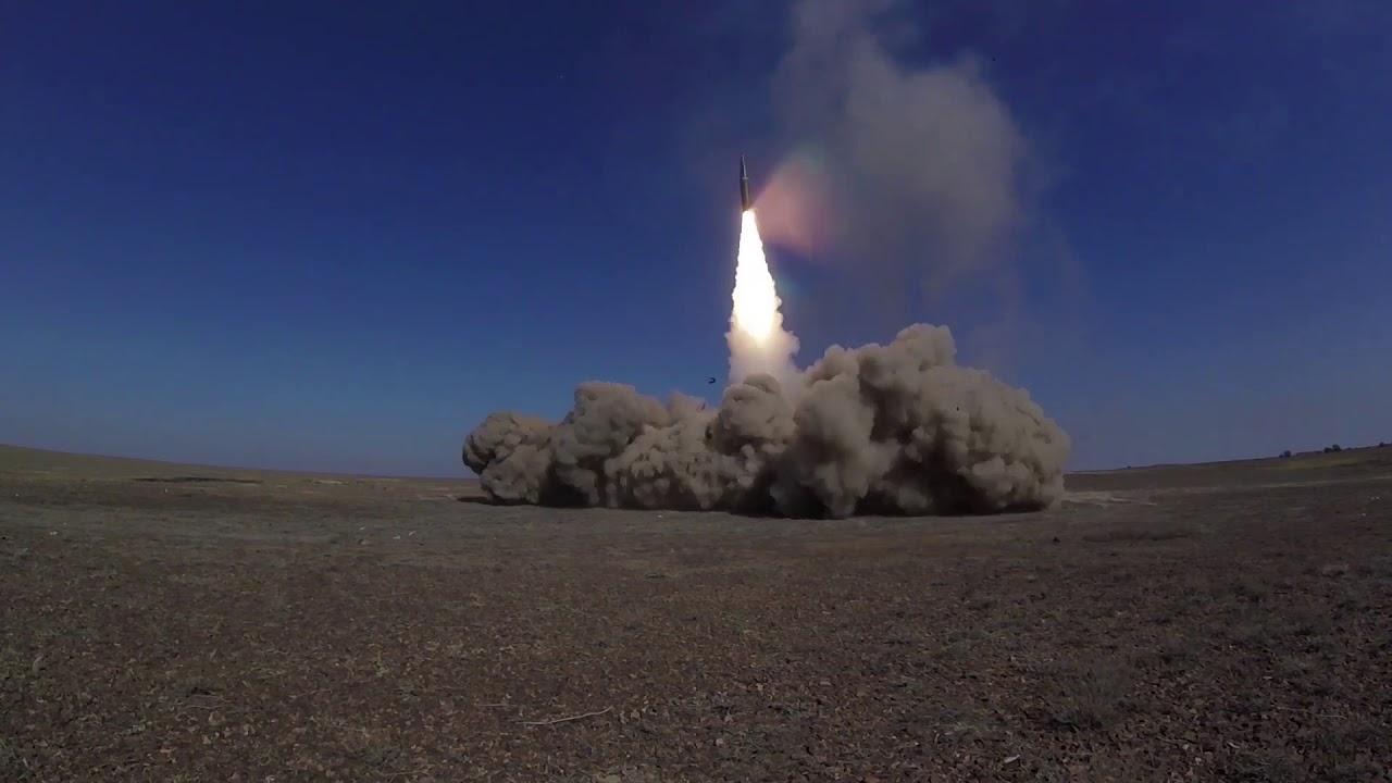 Пуски ракет ОТРК «Искандер-М» на СКШУ «Центр-2019»