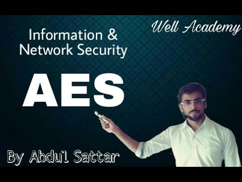 Information & Network Security Lecture --  AES (Eng-Hindi)