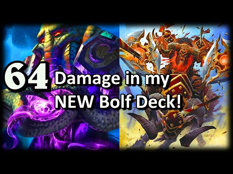 64 Damage in New Bolf Deck ~ Hearthstone Heroes of Warcraft Whispers of the Old Gods