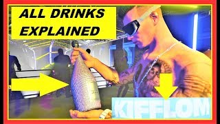 GTA 5 Online After Hours DLC : ALL new DRINKS explained & how to get KIFFLOM Shirt