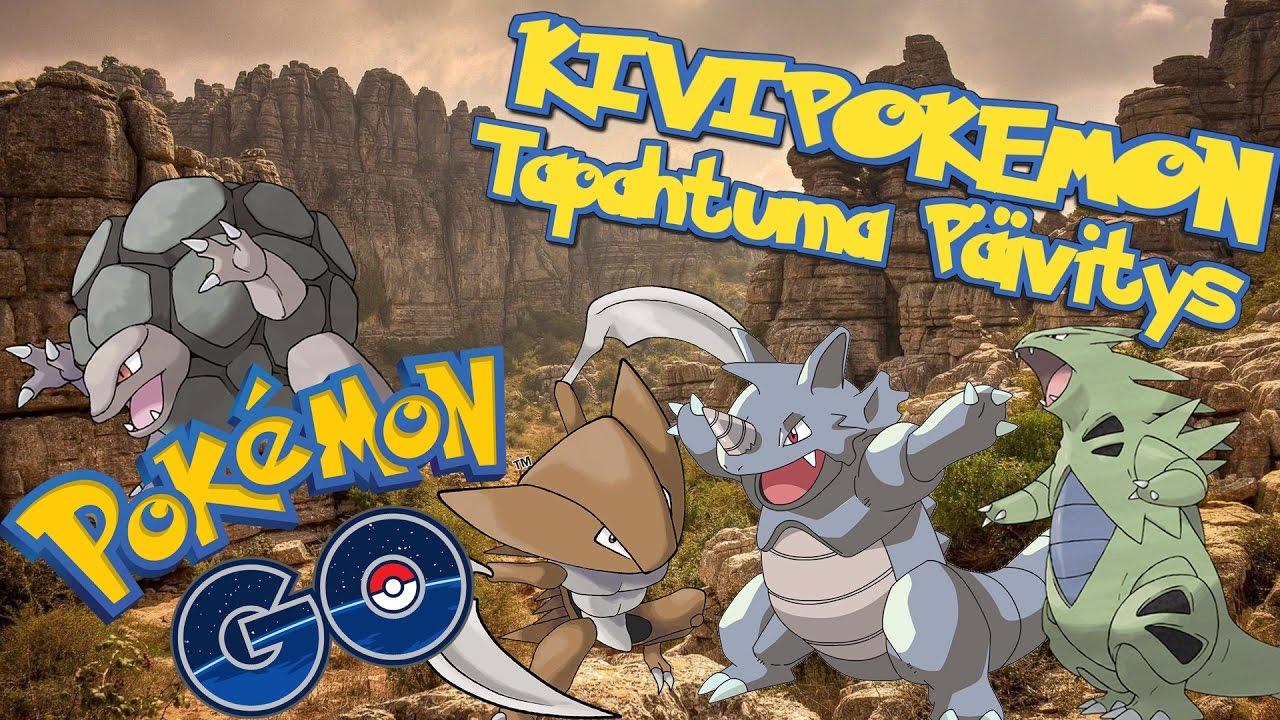 Pokemon GO Suomi - KIVIPOKEMON EVENTTI PÄIVITYS!! - YouTube