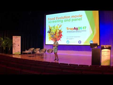Dr Alison Van Eenennaam speaks at the Food Evolution Movie
