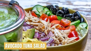 How To Make Avocado Tuna Salad - Easy Avocado Tuna Salad Recipe - Blondelish