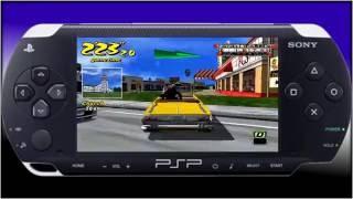 Crazy taxi fare wars- PSP- HD PVR
