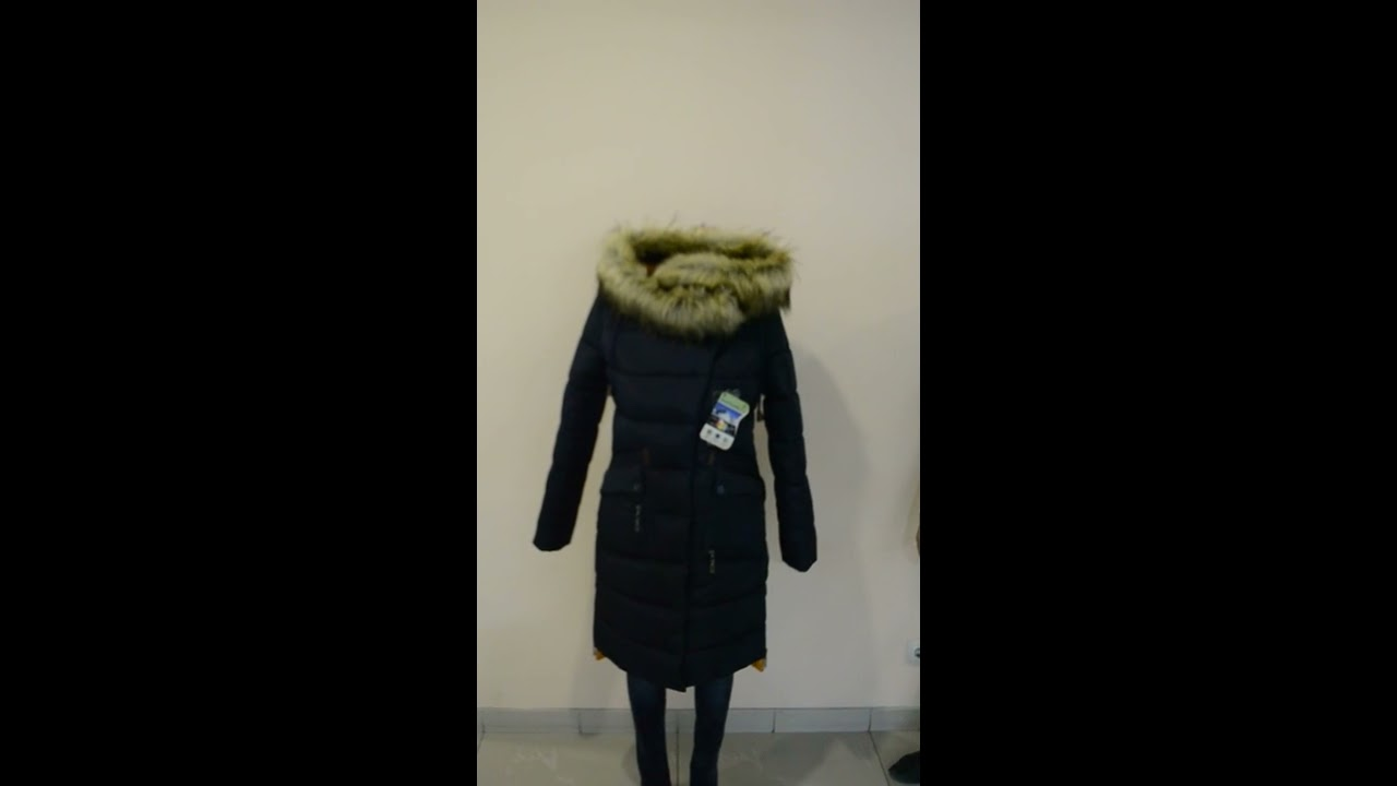 Пальто женское зимнее с мехом П - 686 Vu+Unito тон 108 - YouTube