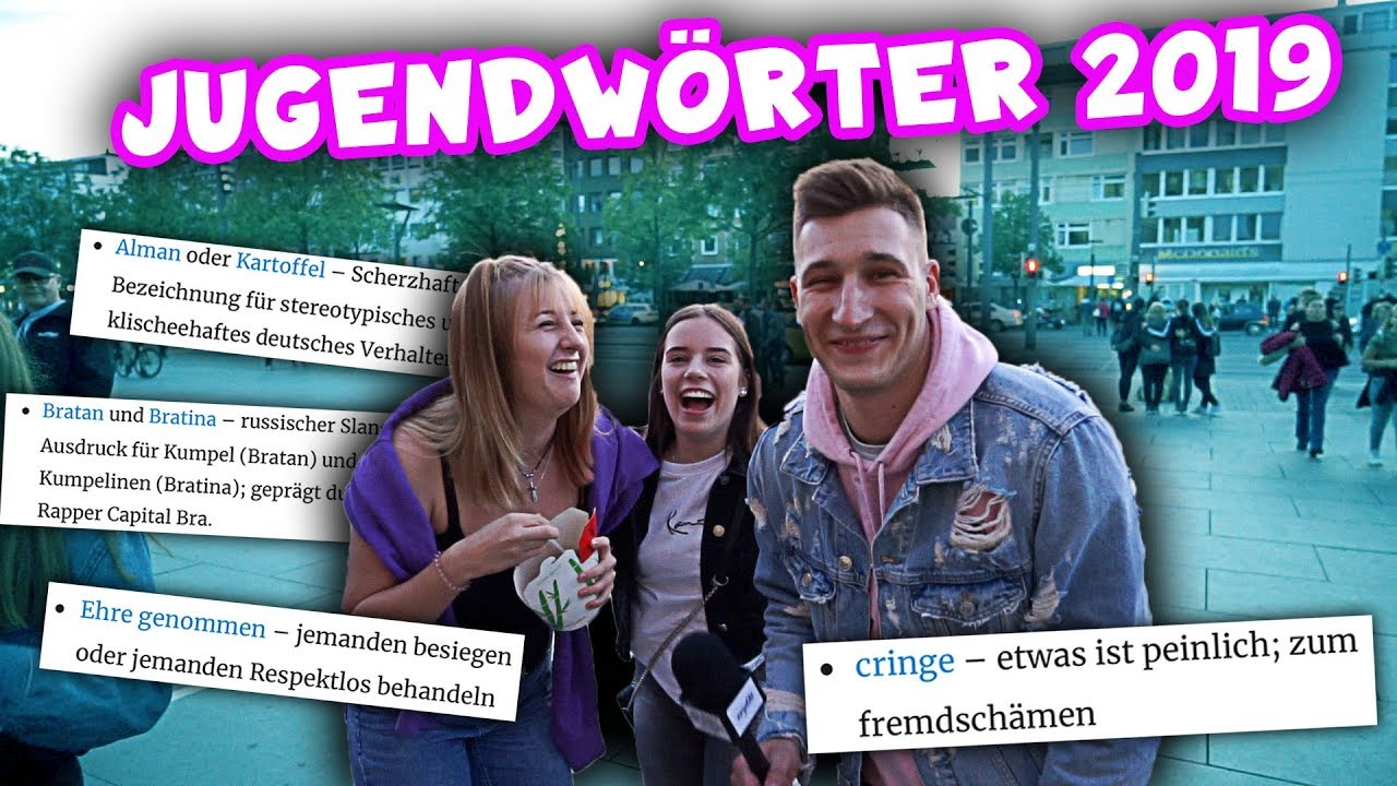 Jugendworter 2019 Alman Cringe Oder Was Bedeutet Cornern Street Comedy Urgeon Youtube