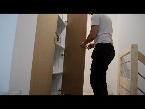 portes de placard battantes 120cm de large en MDF charnière invisible demi recouvrement
