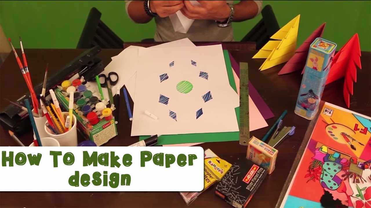how to make paper design youtube