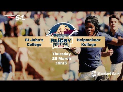 St John's Rugby Festival 2018 - St John's College vs Helpmekaar Kollege, 29 March