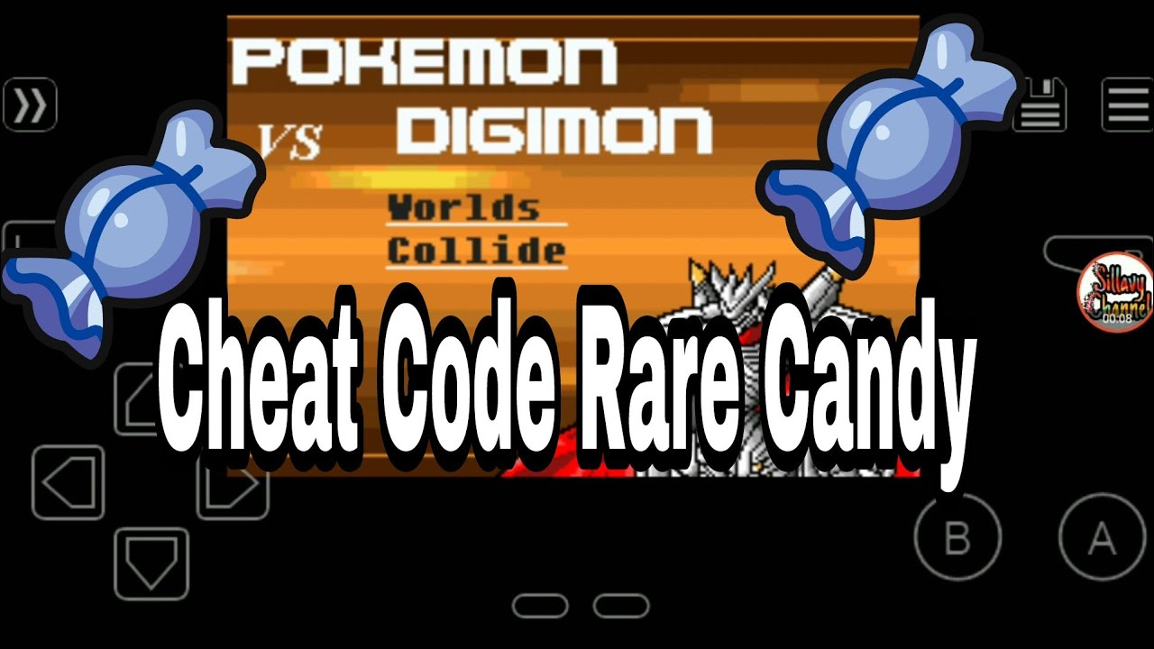 Pokemon VS Digimon GBA Cheat code Rare Candy by Sillavy Channel