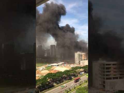 Building Site Fire at Punggol