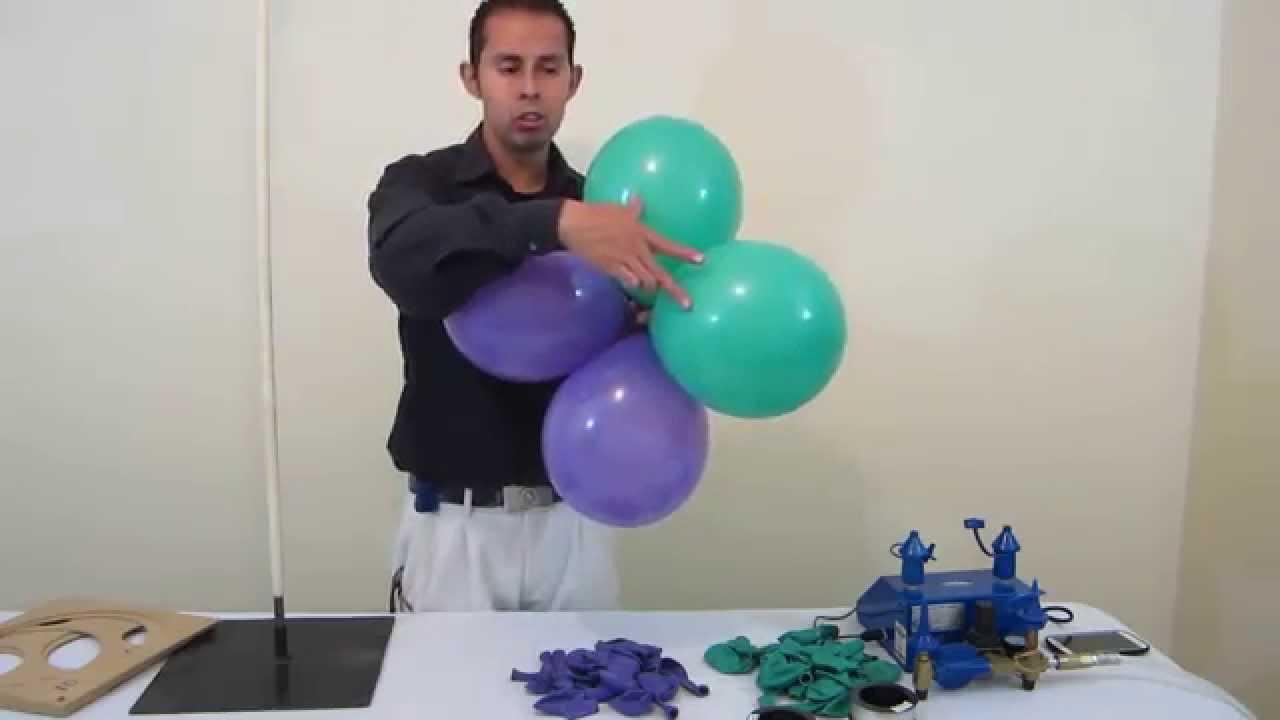 Como hacer un arco de globos decoraciones con globos - Hacer munecos con globos ...