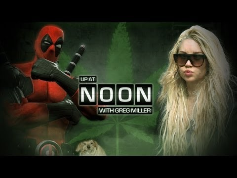 Up at Noon Teaches Amanda Bynes How to Smoke! Also Talks Deadpool! -- Up at Noon