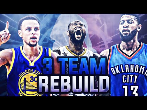 3 AMAZING SUPER TEAMS!! 3 TEAM REBUILDING CHALLENGE! NBA 2K17