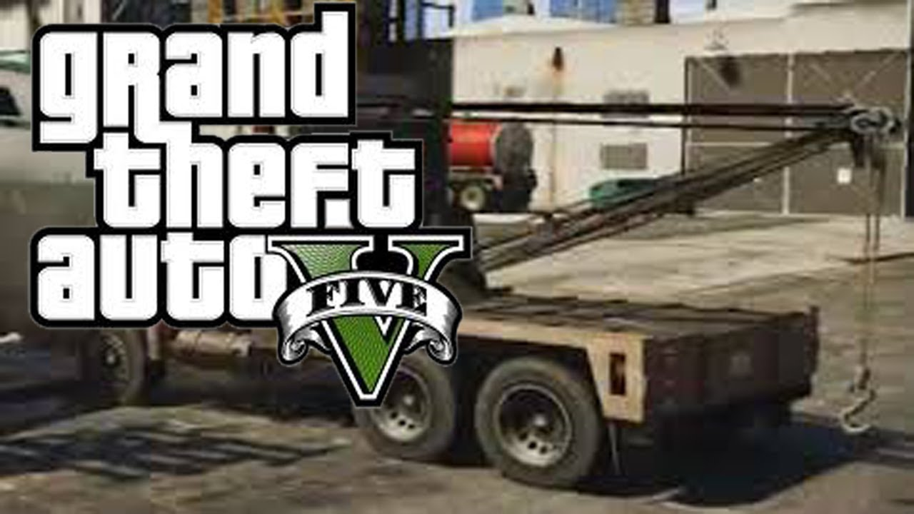 GTA V - Secret Vehicle Location - Tow-Truck (Tow Other Cars!)