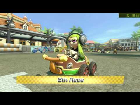 Mario Kart 8 Deluxe: All Tracks 200cc Speed Run in 1:39:17 w/ Inkling Girl (Hard CPU)