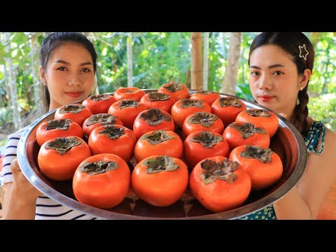 Yummy cooking Persimmon dessert with Longan recipe - Natural Life TV