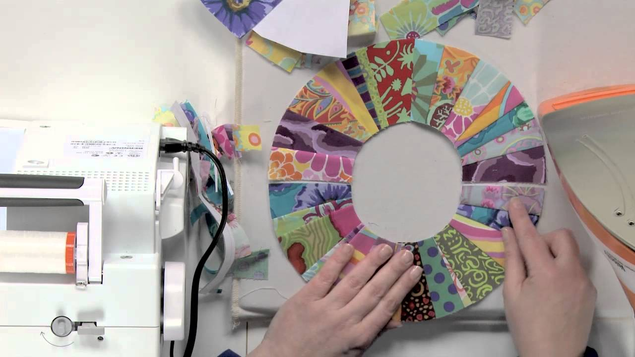 String Piecing on a Curve: Candy Ring Block - YouTube : mcalls quilting - Adamdwight.com