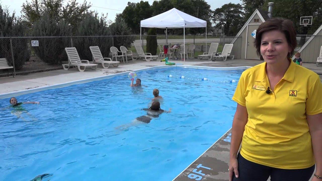 Swimming Pool Des Moines Koa Youtube