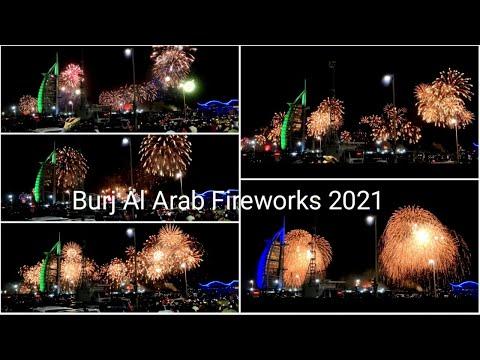 fireworks 2021 / umm suqeim beach / new year vlog / dubai fireworks 2021