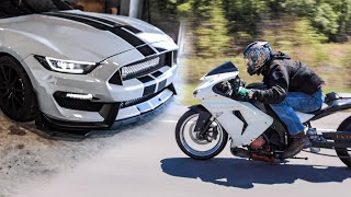 Twin-Turbo GT350 takes on 1,000cc Sport Bike.. Closer than we thought!