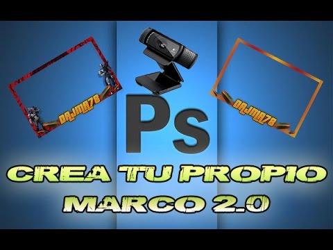 Creación de Marco para imagen webcam 2.0 - Photoshop - YouTube