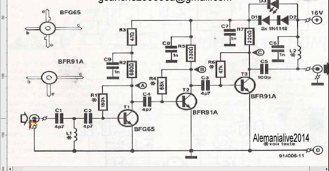 uhf amplifier circuit