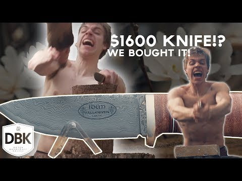 Testing a $1600,- Knife!? | 120 Layered Damascus Fallkniven NL5 Cowry X! !