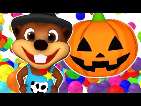 SUPER CIRCUS 3D Pumpkin Smash | ABC Color Balls, Learn Colours & Shapes | 3D Rhymes by Busy Beavers
