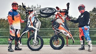 KTM LEND US 2 BIKES ! TWO KIDS IN ENDURO ! 😂