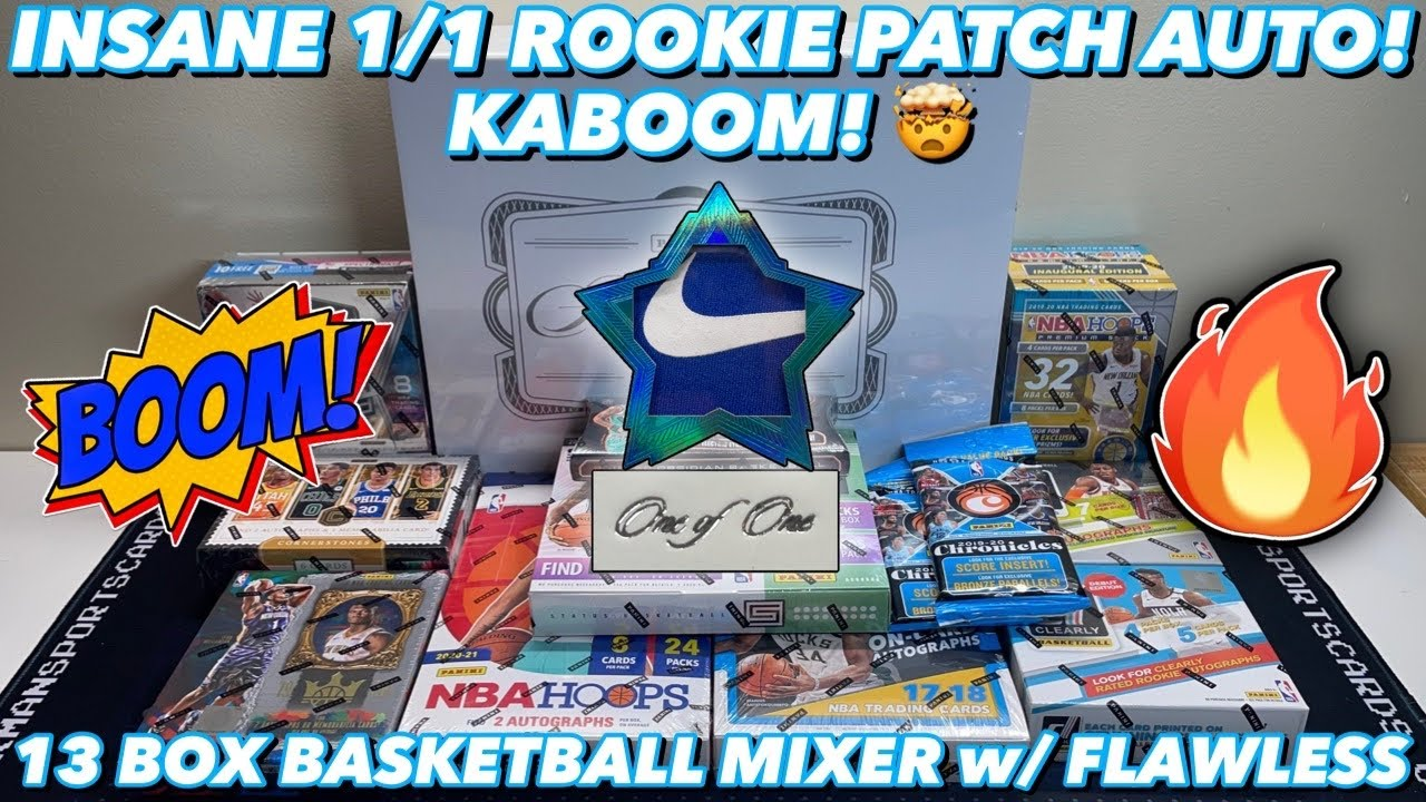 *ONE OF OUR BIGGEST HITS EVER! INSANE 1/1 ROOKIE PATCH AUTO!* 13 Box Basketball Mixer w/ Flawless