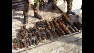 Palombari S.D.A.I. recuperano bombe mortaio.
