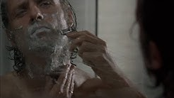 TWD S5E12 - Rick meets Jessie Anderson as he shaves