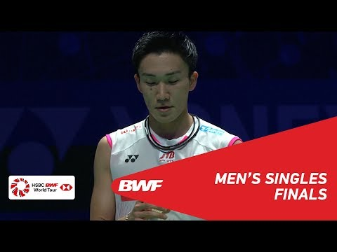 F  MS  Kento MOMOTA JPN 1 vs Viktor AXELSEN DEN 6  BWF 2019