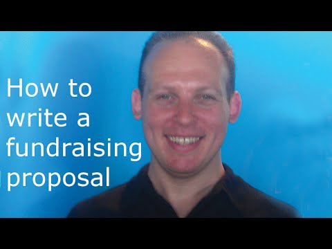 how to write a fundraiser proposal