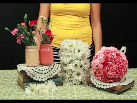 How To Make Hanging Flower Balls YouTube Extraordinary Hanging Flower Ball Decorations