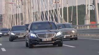 """""""فيديو"""" أردوغان يقود سيارته برفقة زوجته على جسر السلطان سليم الجديد بإسطنبول"""