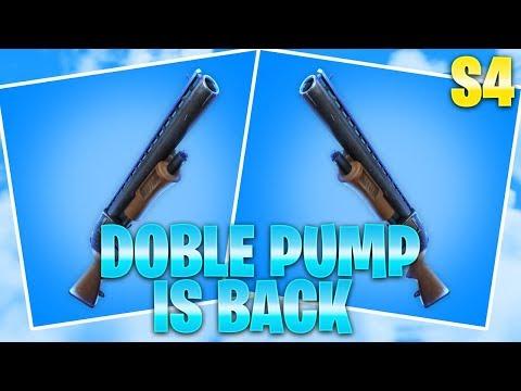 DOUBLE PUMP IS BACK SEASON 4 | Fortnite gameplay español - zEkO ft zzk7