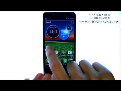 Motorola Droid Razr M - How Do I Setup Password Pattern PIN or Face Unlock