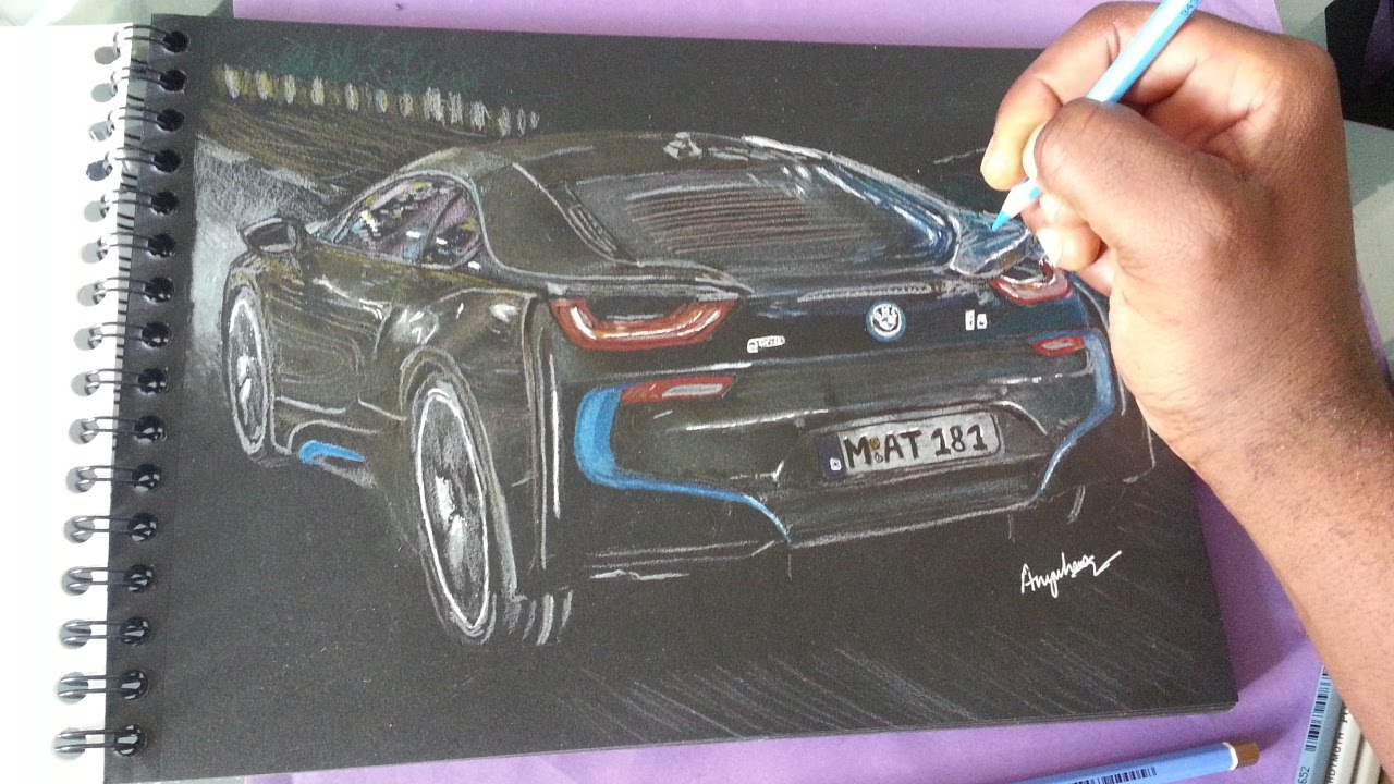 Drawing The Bmw I8 Youtube