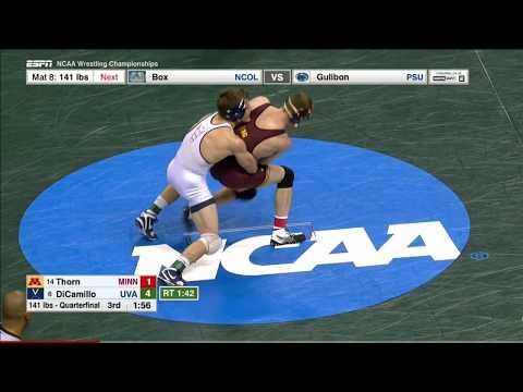 2017 NCAA Wrestling 133lbs: George DiCamillo (Virginia) vs Tommy Thorn (Minnesota)