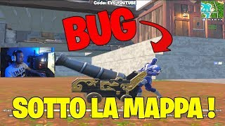 Bug! UNDER THE MAP WITH THE CANNON! FORTNITE ITA