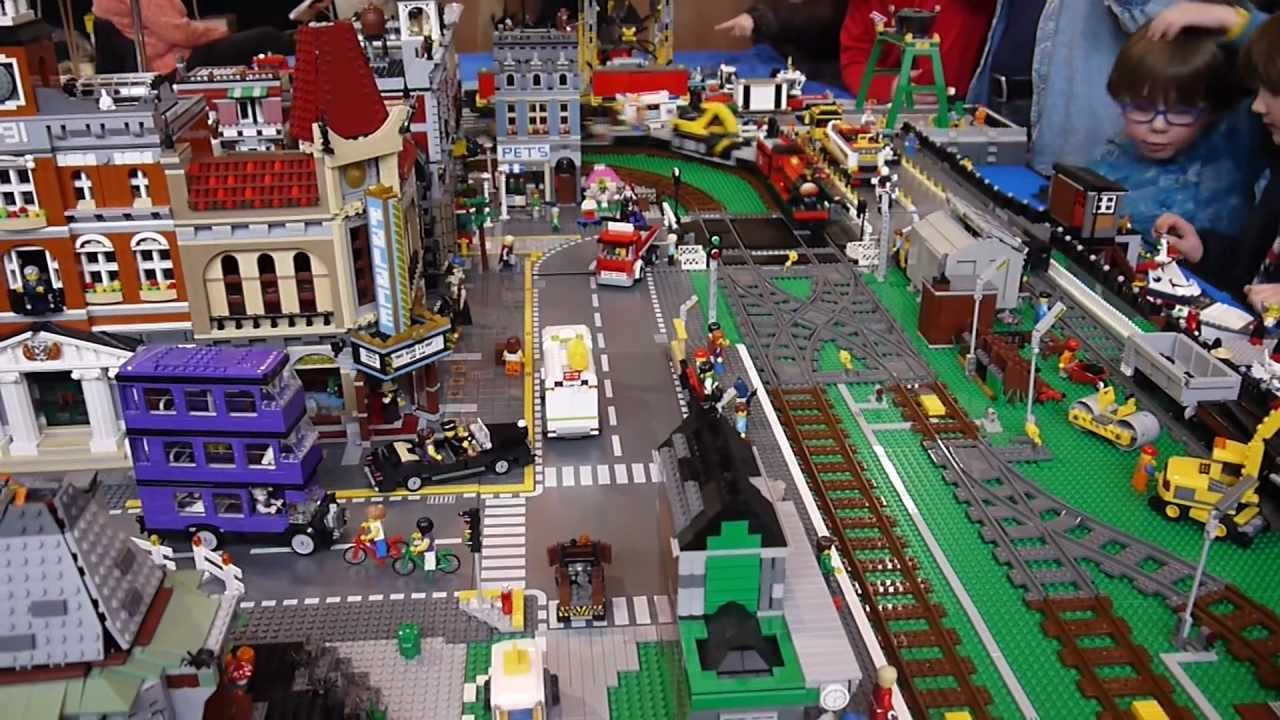 Brickville Town Harbour Lego City Railway Train Layout ...
