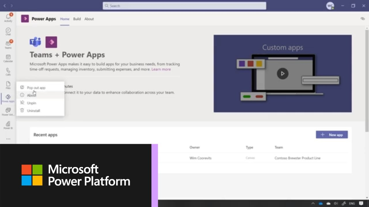 How to Create Your First App in Microsoft Teams with Power Apps