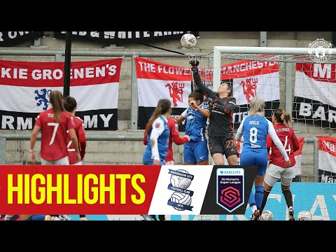 Highlights | Manchester United Women 2-0 Birmingham | FA Women's Super League