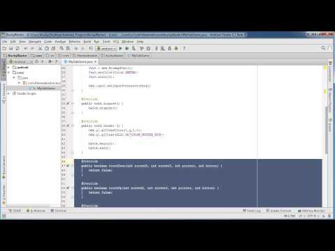 Android App Development for Beginners - 75 - LibGDX Handling User Input