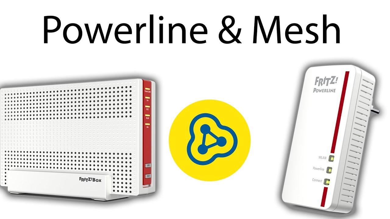 Fritz!Box Powerline Adapter ins Mesh Netz aufnehmen - YouTube