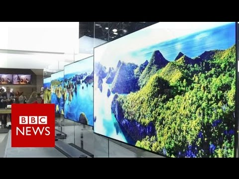 Download Youtube: CES 2017: LG's super-thin TV lies flat against the wall - BBC News