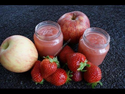 21231bbe689a3 De délicieuses compotes pomme fraise maison sans sucre ajouté au thermomix